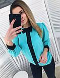 Женская стильная шифоновая блуза с кружевом (2 цвета), фото 4