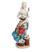 Фарфоровая cтатуэтка Девушка с цветами (Pavone) JP-12/20