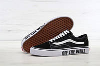 "Мужские кеды Vans Old Skool ""Off the wall"" BW 9.5"