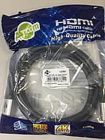 HDMI кабель (hdmi-hdmi 4к support) 2метра (в блистере)
