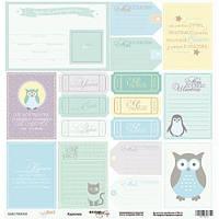 Карточки для декора Baby Boy (рус), 30х30см