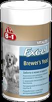 8in1 Excel Brewers Yeast Пивные дрожжи для собак и кошек 140таб