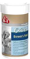 8in1 Excel Brewers Yeast Пивные дрожжи для собак и кошек 140таб, фото 2