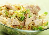 Салат с курицей и кус-кус