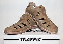 Туфлі чоловічі шкіряні 40-45 Traffic оливка.