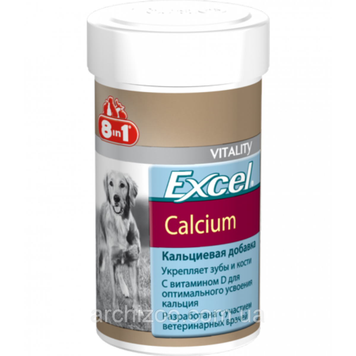 8in1  Excel Calcium - кальциевая добавка для собак 470таб (109433)