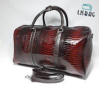 Дорожная сумка Черно-оранжевая 3D эффект PU толстая (34 литра)