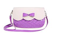 Сумка женская фиолетовая с бежевым