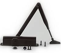 Дверной доводчик, коричневый. DORMA TS 77 EN 4. С рычажной тягой.