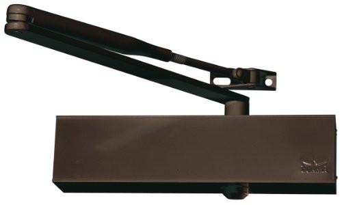 Доводчик дверной, коричневый. DORMA TS 73 V с тягой. Фиксация.
