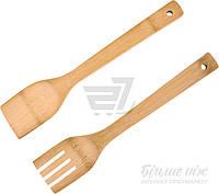 Набор кухонных аксессуаров вилка и ложка из бамбука