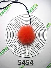 Меховой помпон Песец, Алый, 6 см,  5454, фото 2