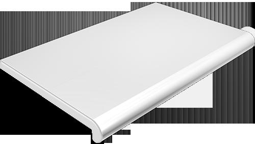 Подоконник глубина 100 мм, длина 1000 мм., Plastolit (Пластолит), белый глянцевый цвет.