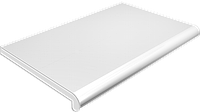 Подоконник глубина 200 мм, длина 1000 мм., Plastolit (Пластолит), белый матовый цвет.
