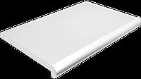 Подоконник глубина 100 мм, длина 1000 мм., Plastolit (Пластолит), мрамор матовый цвет., фото 1