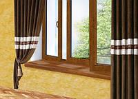 Подоконник глубина 400 мм, длина 1000 мм., Plastolit (Пластолит), Золотой дуб Дуглас матовый цвет., фото 1