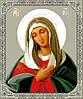 """Схема для вишивки хрестиком на канві Aida №16 """"Ікона Пресвятої Богородиці Розчулення"""""""