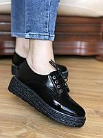 Летние черные кожаные женские спортивные туфли-кроссовки