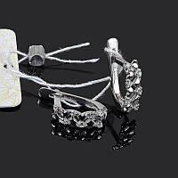 Родированные изящные серебряные серьги