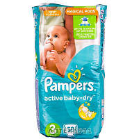 Подгузники для детей PAMPERS Active Baby (Памперс Актив Бэби) Dry 3 от 4 до 9кг 58шт