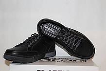 Туфлі чоловічі шкіряні 40-45 Traffic арт 88 чорні флотар.