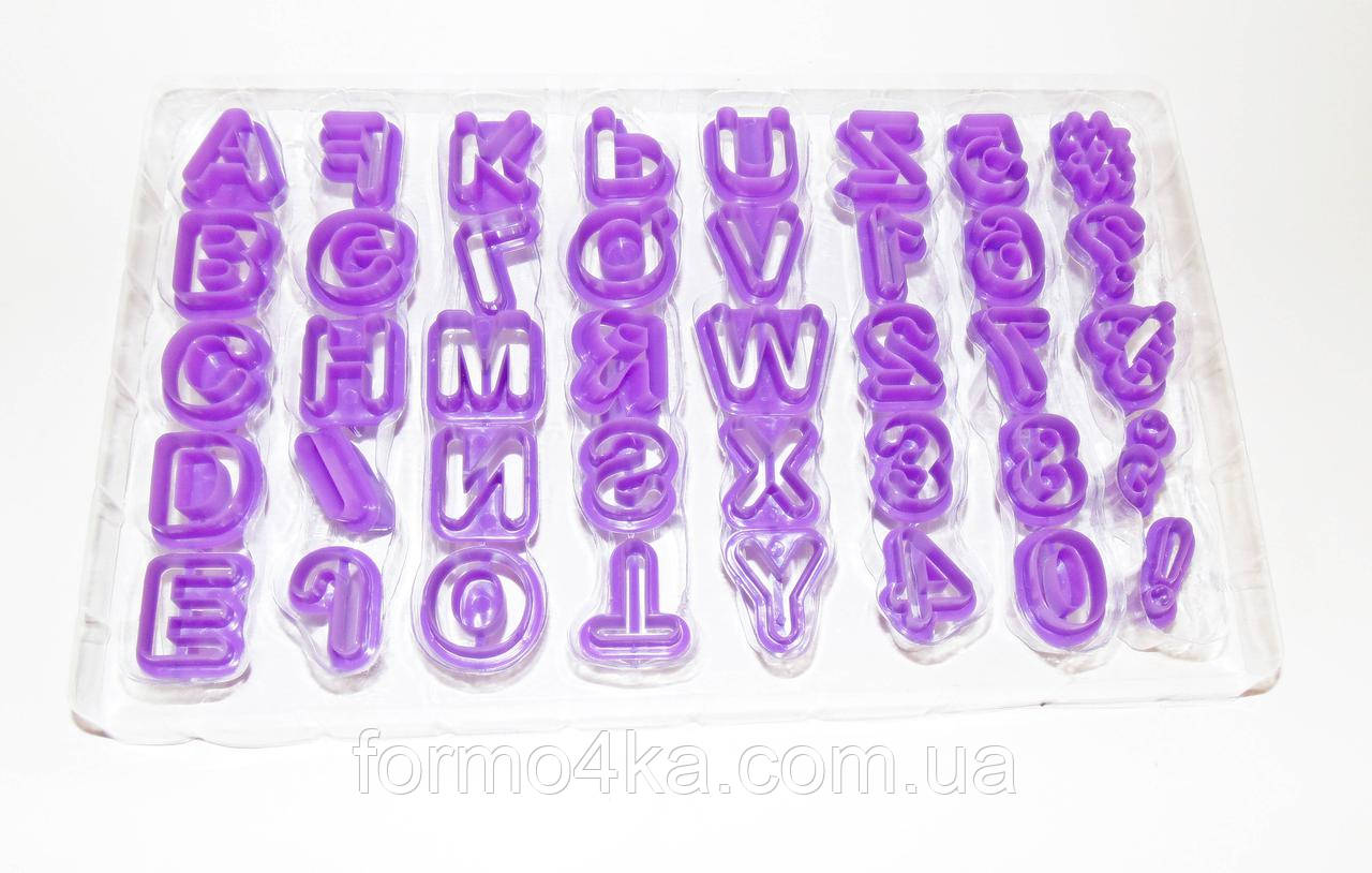 Набор вырубок буквы и цифры 40шт