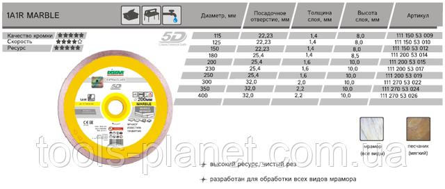 Характеристика и типоразмеры Distar Marble 5D