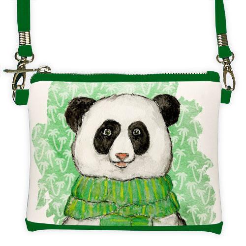 Мини клатч для девочки с принтом Панда