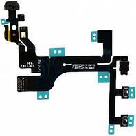 Шлейф для мобильного телефона Apple iPhone 5C кнопок звука / кнопки включения / с компонентами