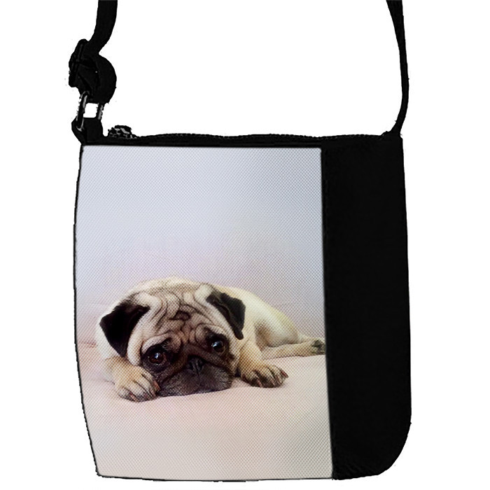 Детская сумка для девочки с принтом Мопс