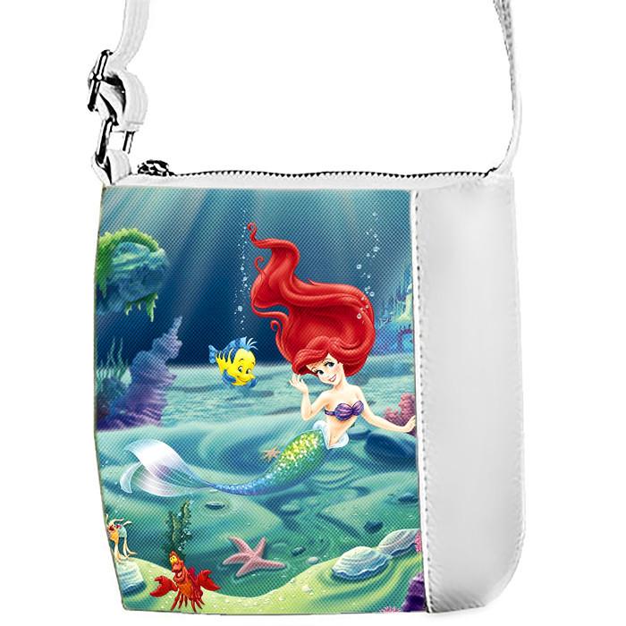 Детская сумка для девочки с принтом  Ариэль в водном мире