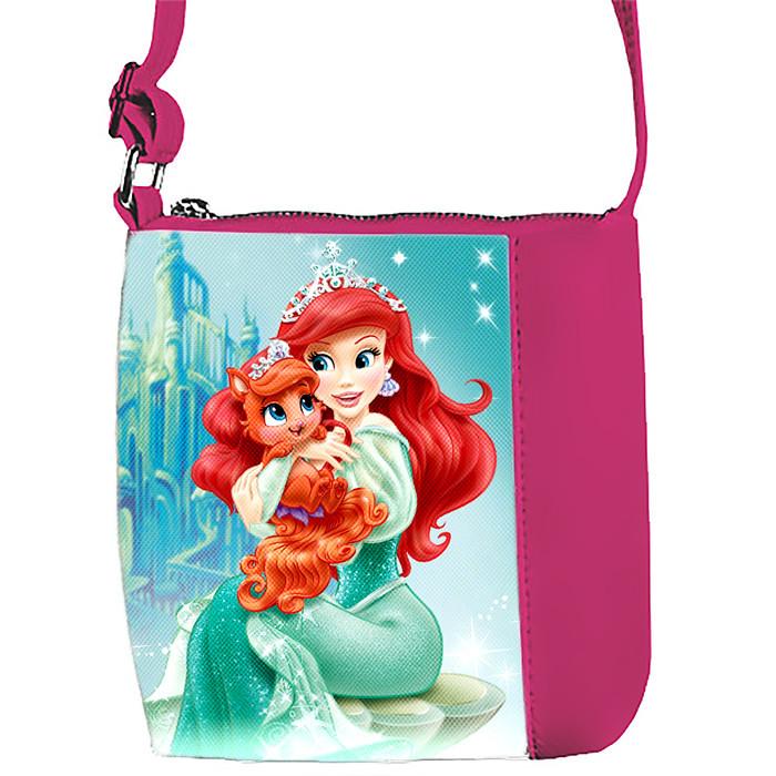 Детская сумка для девочки с принтом  Ариэль и кошечка
