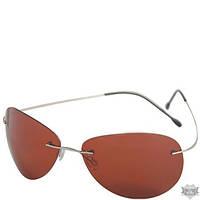 Мужские очки для водителей в облегченной оправе с поляризационными коричневыми линзами AUTOENJOY