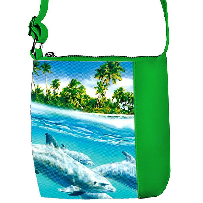 Детская сумка для девочки с принтом Дельфины