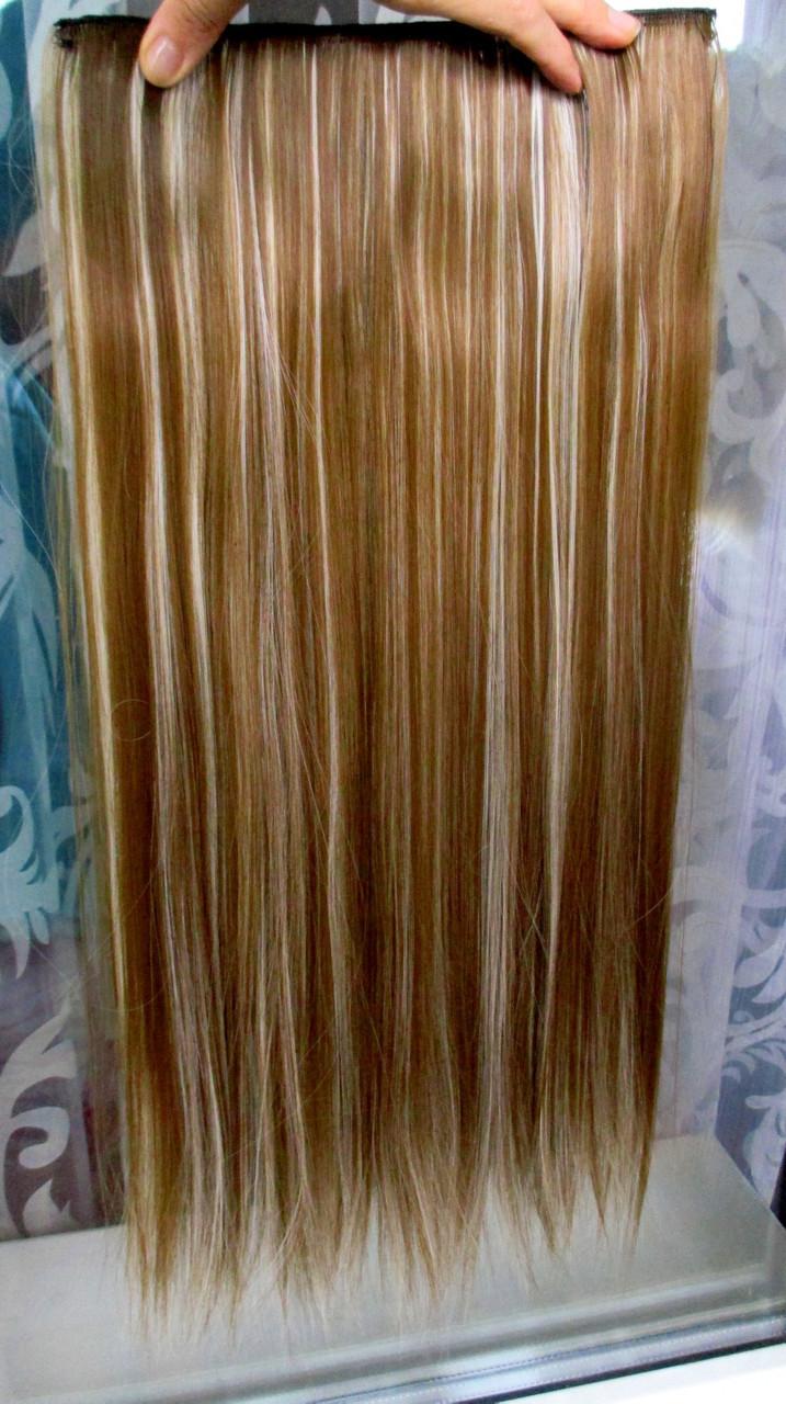Волосы на заколках тресс затылочная прядь ТЕРМО волосы №6н613 Реальные