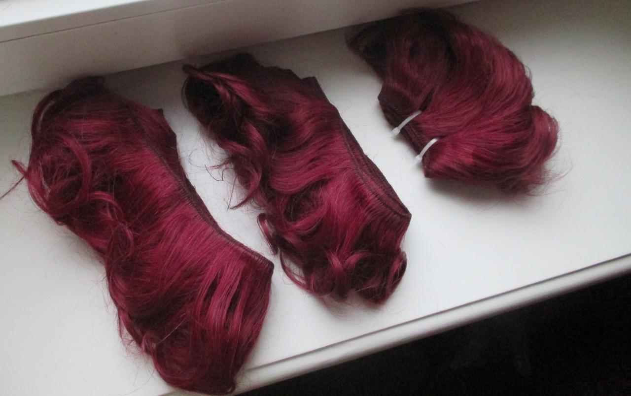 Волосы натуральные в трессах омбре Реальные фото
