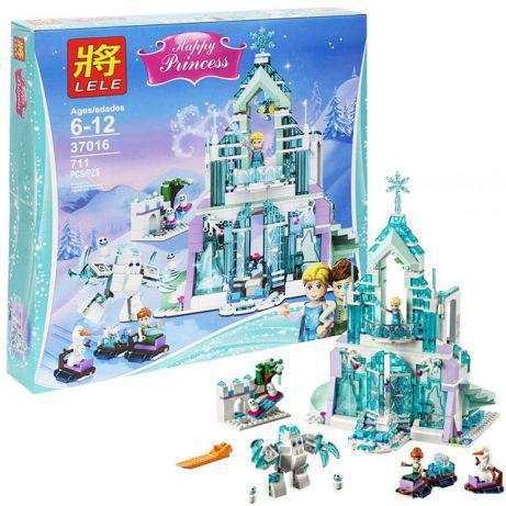 """Конструктор Lele 37016 """"Чарівний крижаний замок Ельзи"""", 711 деталей (аналог Lego Disney Princess 41148)"""