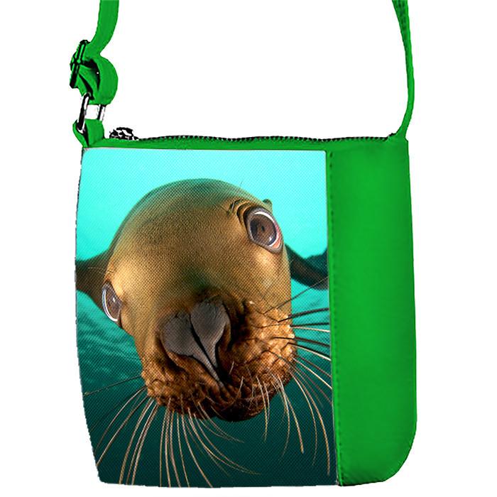 Детская сумка для девочки с принтом Морской котик