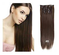 Волосы трессы ТЕРМО на заколках 6 прядей №10 длина 55см