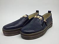 35561887e Индивидуальный пошив. Молодежные туфли-слипоны из кожи флотар на толстой  подошве