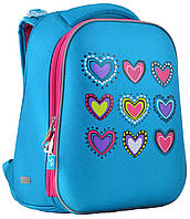Рюкзак каркасный H-12 Hearts turquoise YES