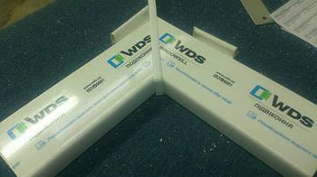 Угловая соединительная заглушка универсальная для подоконника WDS Стандарт белый