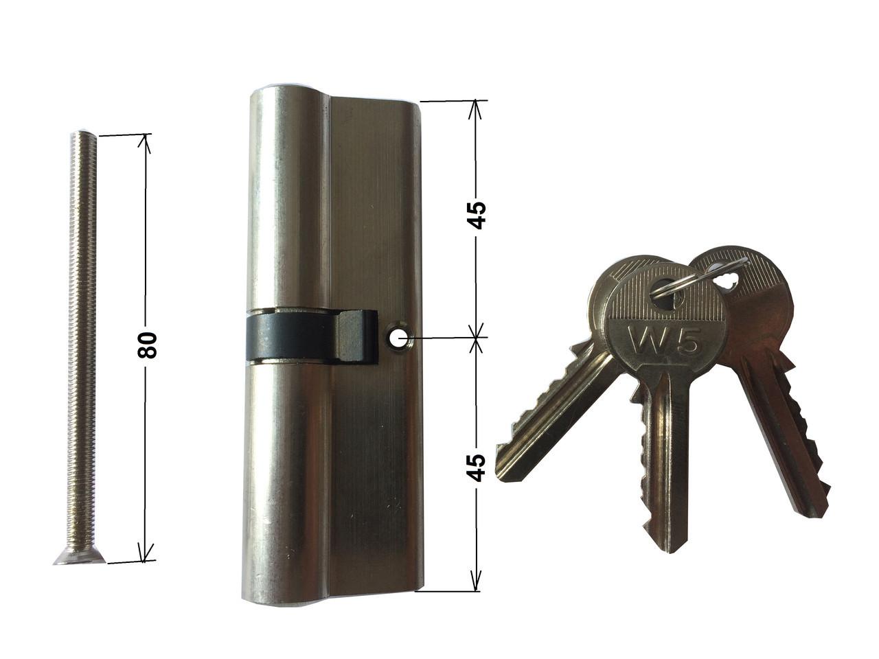 Цилиндр для дверного замка W5 45 на 45 N Winkhaus