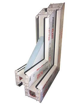 Металлопластиковые окна Праймпласт, монтажная глубина 71 мм., 5 камер