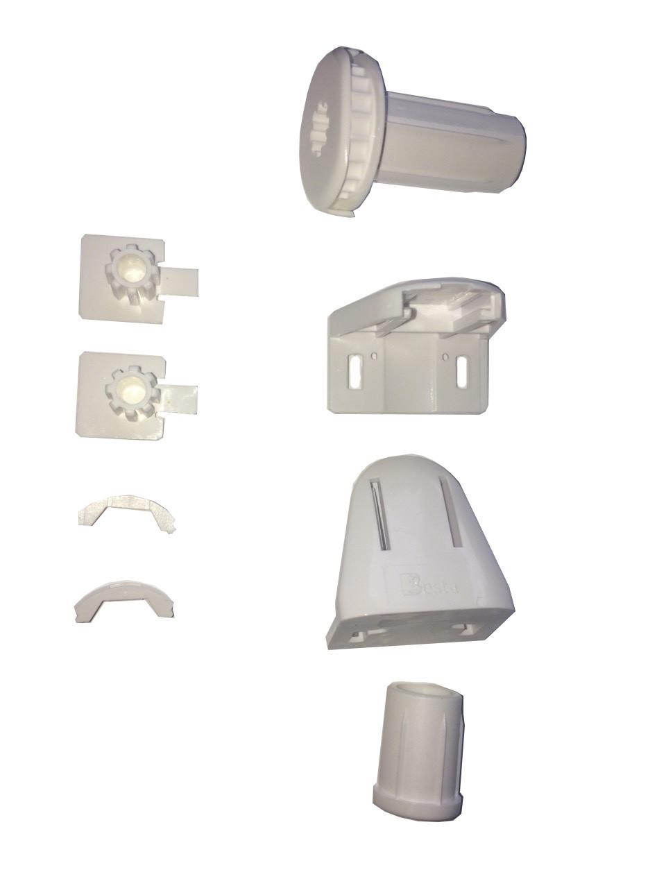 Крепления для рулонных штор комплект Besta mini, белые.