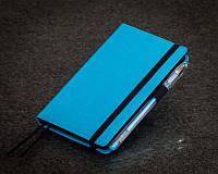 Голубой Блокнот с черными листами Мини ( Ежедневник черные страницы )