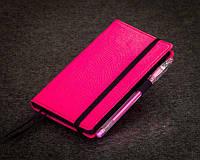 Блокнот розовый с черными страницами Мини ( Ежедневник черная бумага )