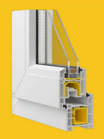 Металлопластиковые окна Aluplast ideal 2000 new, монтажная глубина 60 мм., 3 камеры