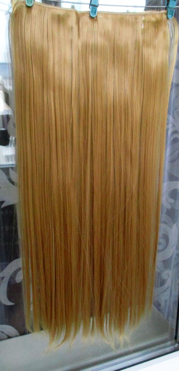 Волосы на заколках тресс затылочная прядь 60 см ТЕРМО волосы №24/27 Ре
