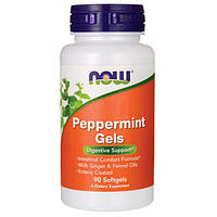 Now Foods, Перечная мята в капсулах, 90 капсул / Peppermint Gels, фото 1